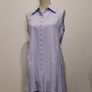 NWT SIMPLY NOELLE Sleeveless Back Slit Button down